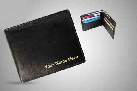 Notts Laser - Personalised mens leather wallet - Save 62%