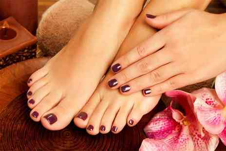 Glam Beauty Bar -  Gelish manicure or pedicure - Save 53%
