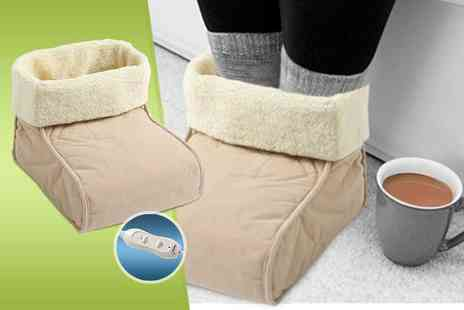 Once Upon a Company  - Fleece lined foot warmer and massager - Save 60%