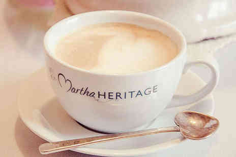 Martha Heritage - Slice of Cake and Hot Drink Each for Two - Save 52%