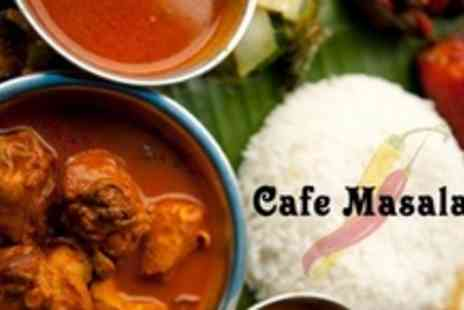 Cafe Masala - Two Courses of Indian Cuisine For Two - Save 65%
