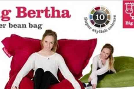 Big Bertha - Big Bertha XL Beanbag In Choice Of Ten Colours - Save 74%