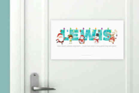 Frame My Name - Personalised Festive Name Print for Doors or Walls - Save 60%