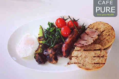 Cafe Pure - Breakfast for Two with Hot Drink Each - Save 57%