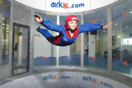 Airkix - Indoor Skydiving Experience with DVD for One - Save 18%