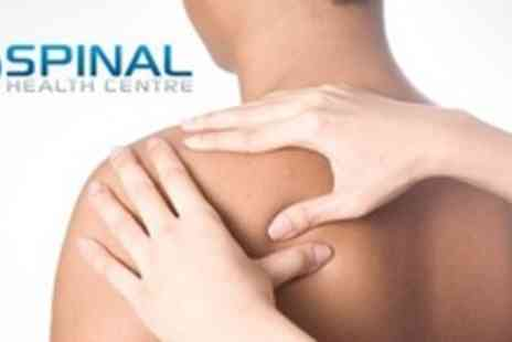 Spinal Health Centre - 45 Minute Therapeutic Massage Plus Chiropractic Consultation - Save 75%