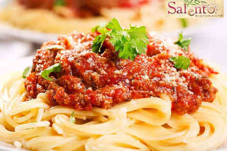 Salento Ristorante - Two Course Meal with a Glass of Wine for Two - Save 51%