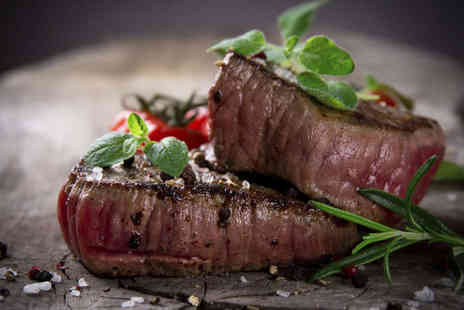 The Blue Steak - Three Course Lunch for One - Save 55%