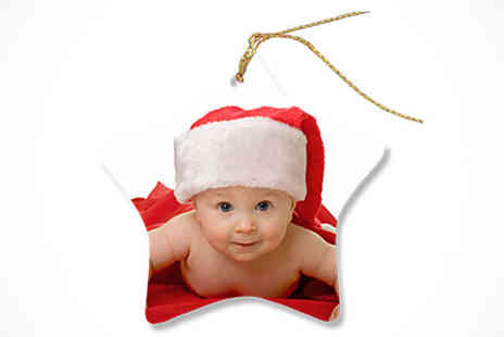 Uk Photo Deals - Personalised Photo Christmas Tree Decoration - Save 67%
