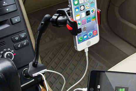 avenrepublic - Dual Smartphone Charging Car Mount, Delivery Included - Save 76%