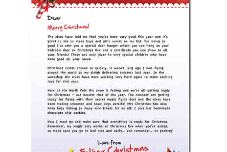 Personal Christmas Letters - Personalised letter from Father Christmas - Save 0%