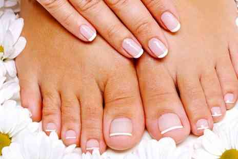 Diamonds Hair & Beauty Studio - Deluxe Manicure or Pedicure or Both  - Save 57%