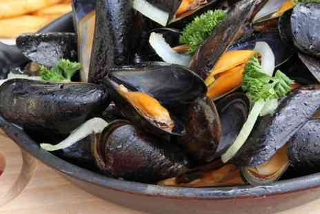 Azure Restaurant - Unlimited Mussels With Chips For Two  - Save 0%
