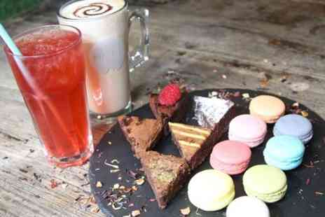 MADD Hatters Cafe - Brownies, Macarons and Drink Each For Two - Save 42%
