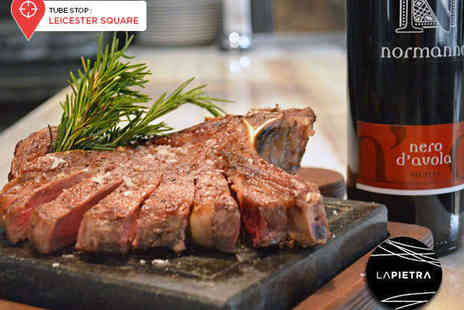 La Pietra - Hot Stone Steak Meal for Two - Save 64%