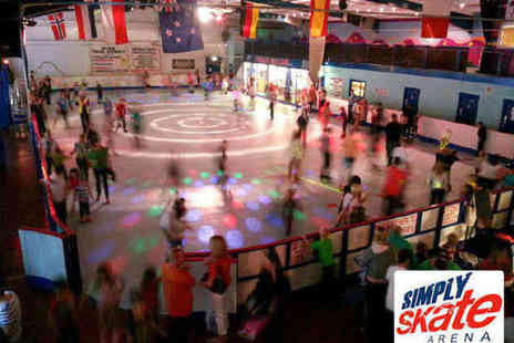 Simply Skate - Skating Admission with Skate Hire, Hot Dog, and Drink for Two  - Save 60%