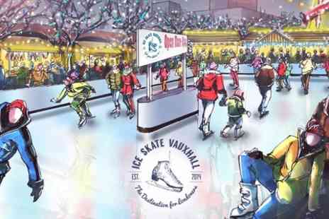 Ice Skate Vauxhall -  Entry  to Off Peak Ice Skating With Maze for Kids  - Save 35%