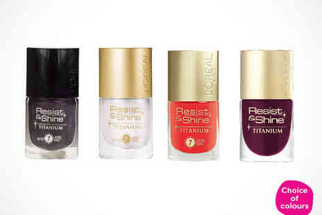 JustShe - Four LOreal Nail Polishes  - Save 72%