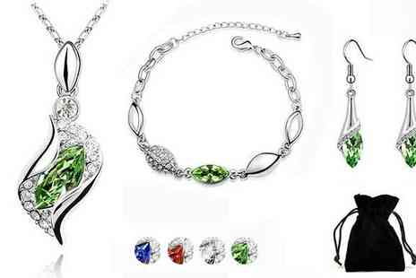 Akzezorys - Royal Drop Swarovski Elemants Tri Set - Save 92%