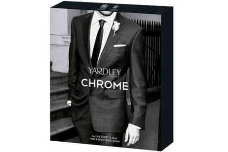 Yardleys - Chrome Eau De Toilette with Hair & Body Wash - Save 30%