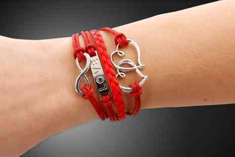 Brilliant Ideas Jewellery - Two infinity bracelets - Save 85%