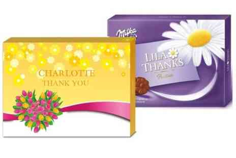 Personalgifts - Personalised Milka Chocolate Box  - Save 29%
