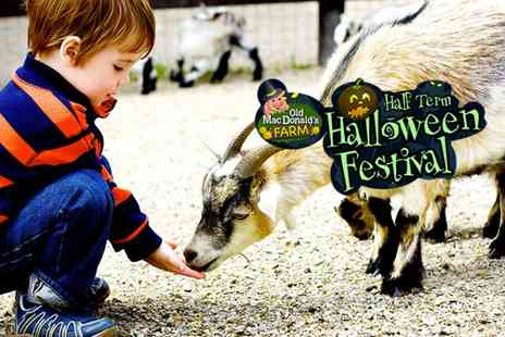 Old Macdonalds Farm  - Halloween Festival  with rides and petting zoo included - Save 37%