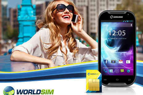 WorldSIM - Dual SIM Phone that Works Worldwide with Global SIM Card &£20 Credit - Save 45%