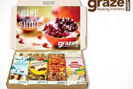 graze - Four Graze Breakfast Boxes, Delivery Included - Save 64%