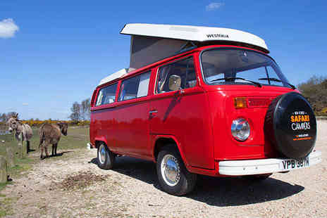 New Forest Safari Campers - Three Night Weekend  VW Campervan Hire in the New Forest - Save 50%