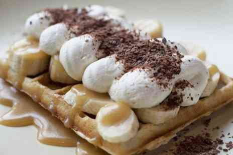 Waffle Cottage - Choice of American Style Waffle and Hot Drink Each For Two - Save 50%