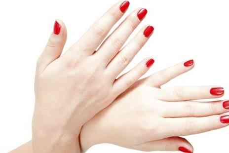 Talking Heads - Shellac Manicure or Pedicure - Save 0%