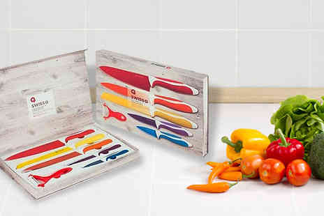 Jazzydeals - Six Piece Stainless Steel Knife Set - Save 85%