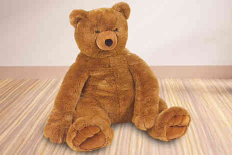 JLM Stock Solutions - Plush Jumbo Brown Teddy Bear - Save 60%