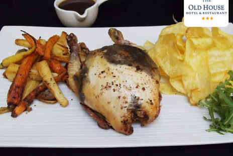 The Old House Hotel - Three Bird Roast with a Carafe of Wine for Two  - Save 50%