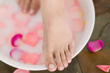Amethyst Holistic Treatments & Training - Scrub, Soothe, and Soften' Package Including Foot Bath, Back Scrub, and Massage OR 'Top and Toe' Package with Head Massage and Aromatherapy Massage - Save 58%