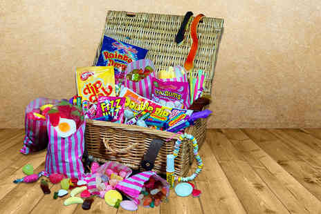 Curious Candy - Candy explosion hamper including  32 different types of sweets - Save 50%