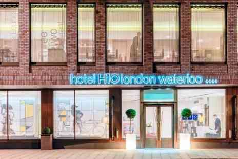 H10 London Waterloo - AA Rosette Three Course Meal With Bubbly For Two - Save 46%