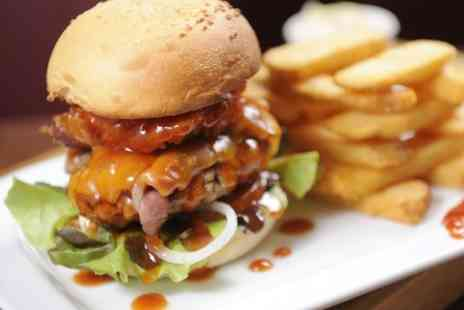 All-Beef Burger Co - Gourmet Burger and Chips For Two  - Save 50%