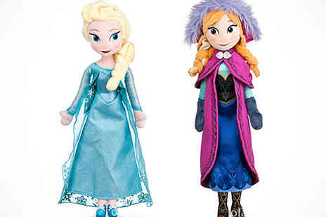 Qualite - Frozen Queen Elsa or Princess Anna Soft Plush Dolls - Save 56%