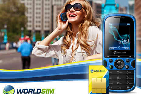 WorldSIM - Dual SIM Phone with Pay As You Go Travel SIM Card and £20 Credit - Save 51%
