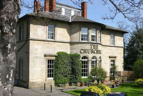 The Churchill - One Night Stay for Two with Breakfast, Bottle of Wine If Dining and Late Checkout - Save 48%