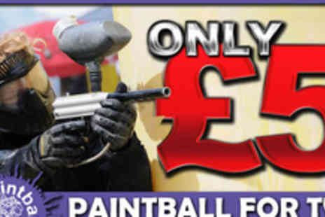 Paintball Park - Take aim and fire your way into combat with a full day of paint balling action for two - Save 75%