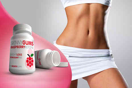 GB Supplement - One month supply of raspberry ketone skinny gums  - Save 77%