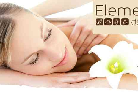 Elements Day Spa - Spa package with facial or massage  - Save 50%