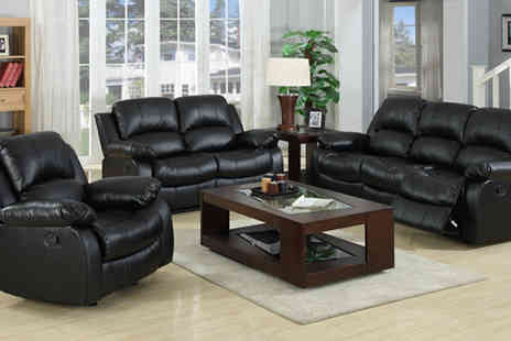 Euro Carpet Warehouse - Madrid Leather Recliner Sofa Sets - Save 55%