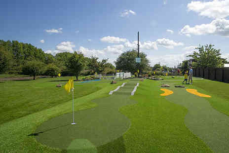 Liverpool Golf Centre - Mini golf with a hot drink and 35 balls on the driving range for Two - Save 62%
