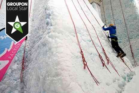 Snow Factor - Ice Wall Climbing Plus Meal  - Save 47%