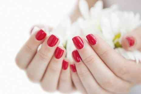 White and Beauty - Shellac Manicure or Pedicure - Save 65%