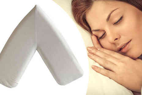 Ultimate Products - Dreamtime Large Antibacterial V Shaped Memory Foam Pillow - Save 31%